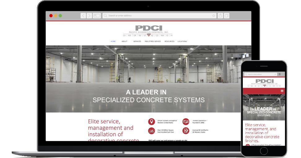 Pacific Decorative Concrete website
