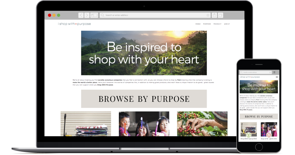 I Shop With Purpose website