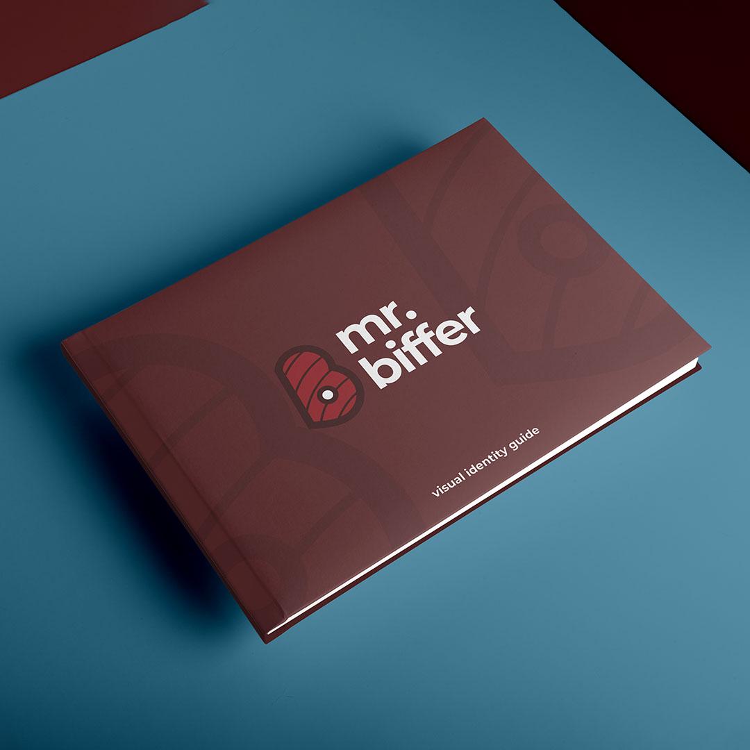 Mr. Biffer brand identity manual cover