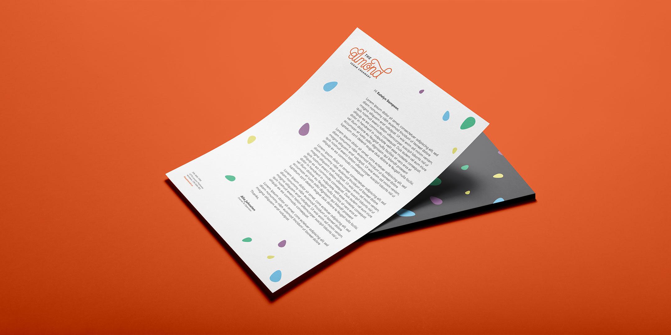The Almond letterhead