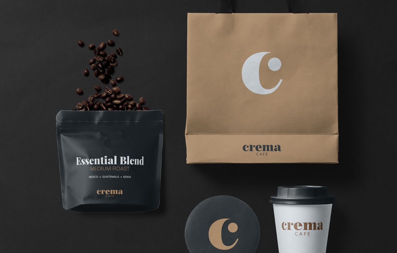 Crema cafe brand identity