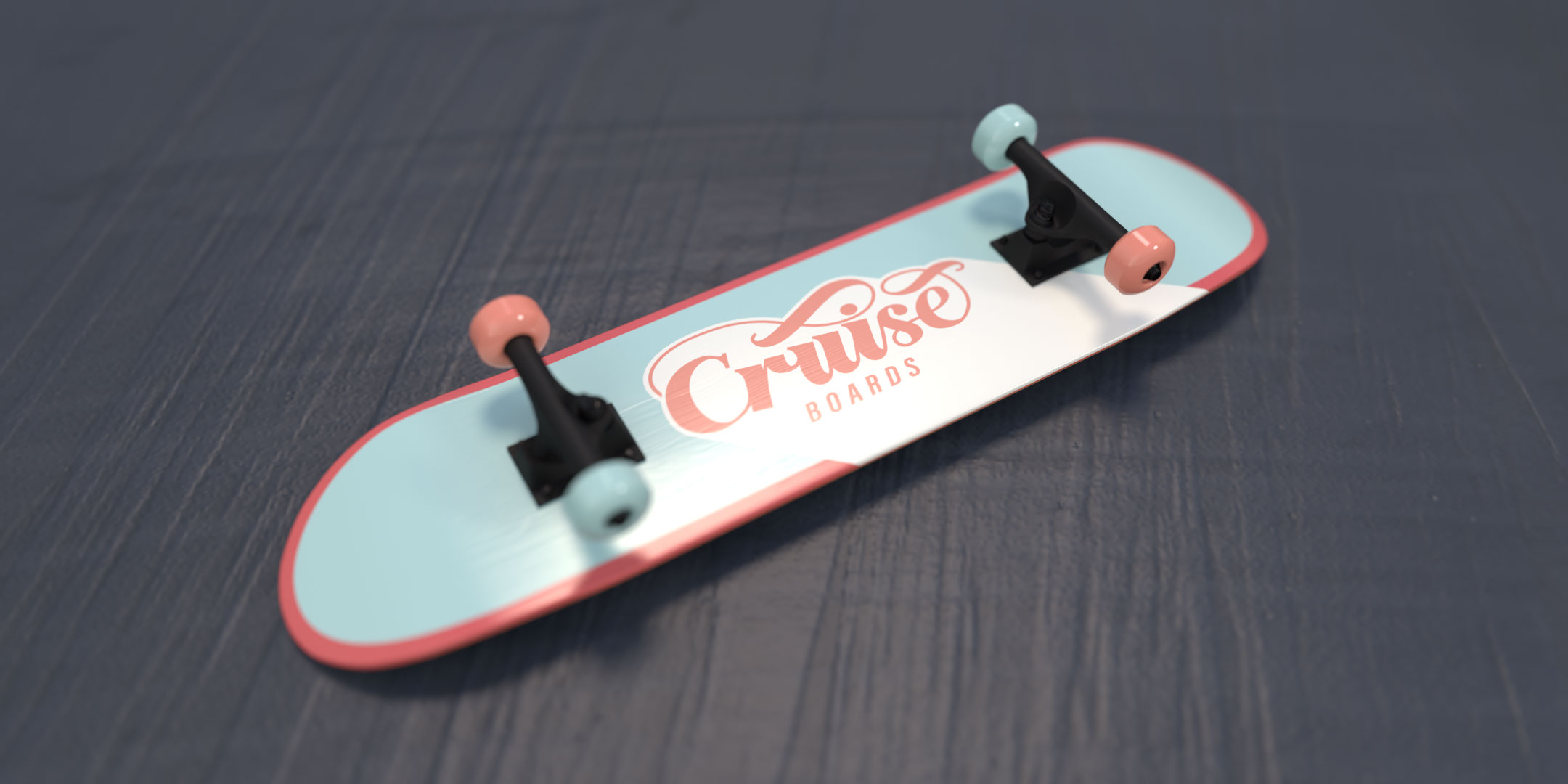 Cuise Boards skateboard viewed at an angle
