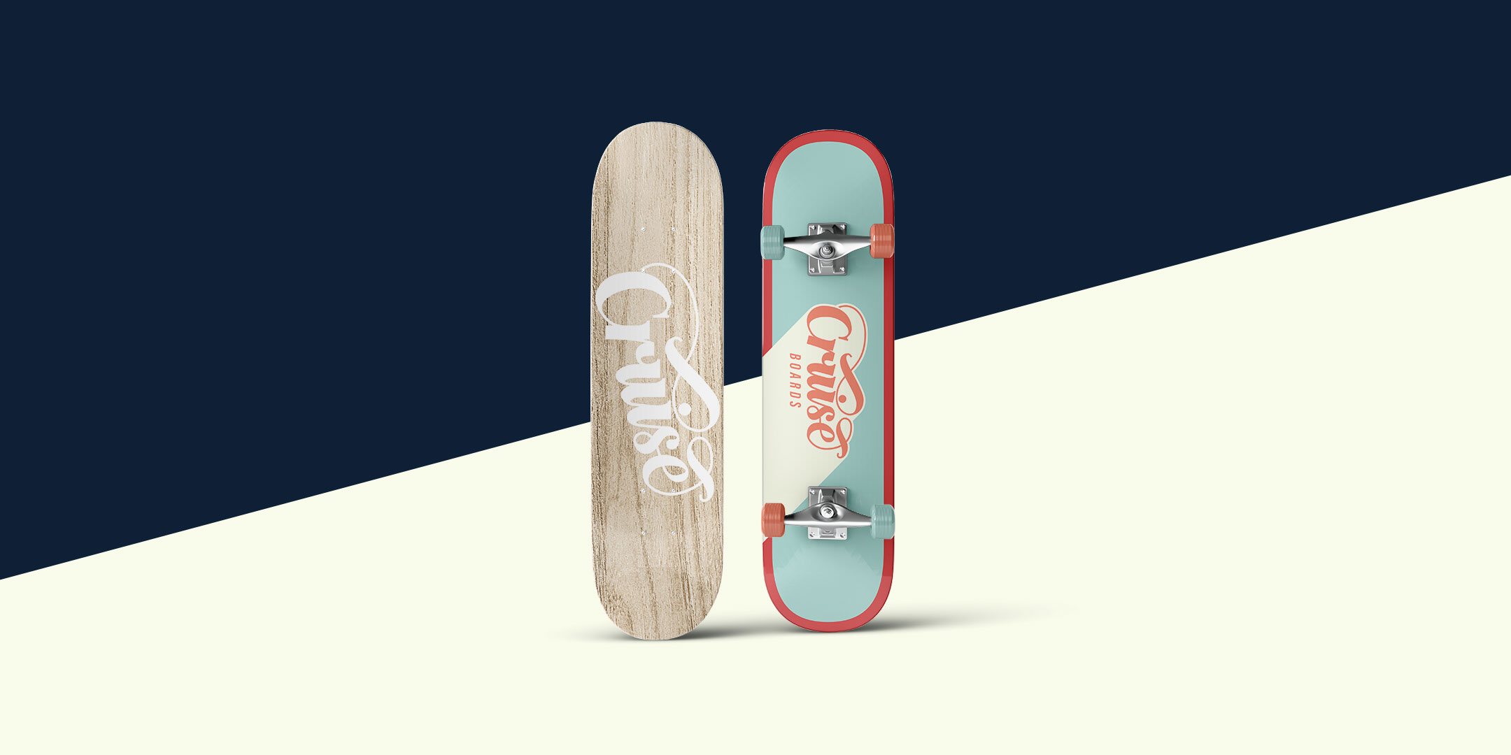 Cruise Boards skateboard front & back