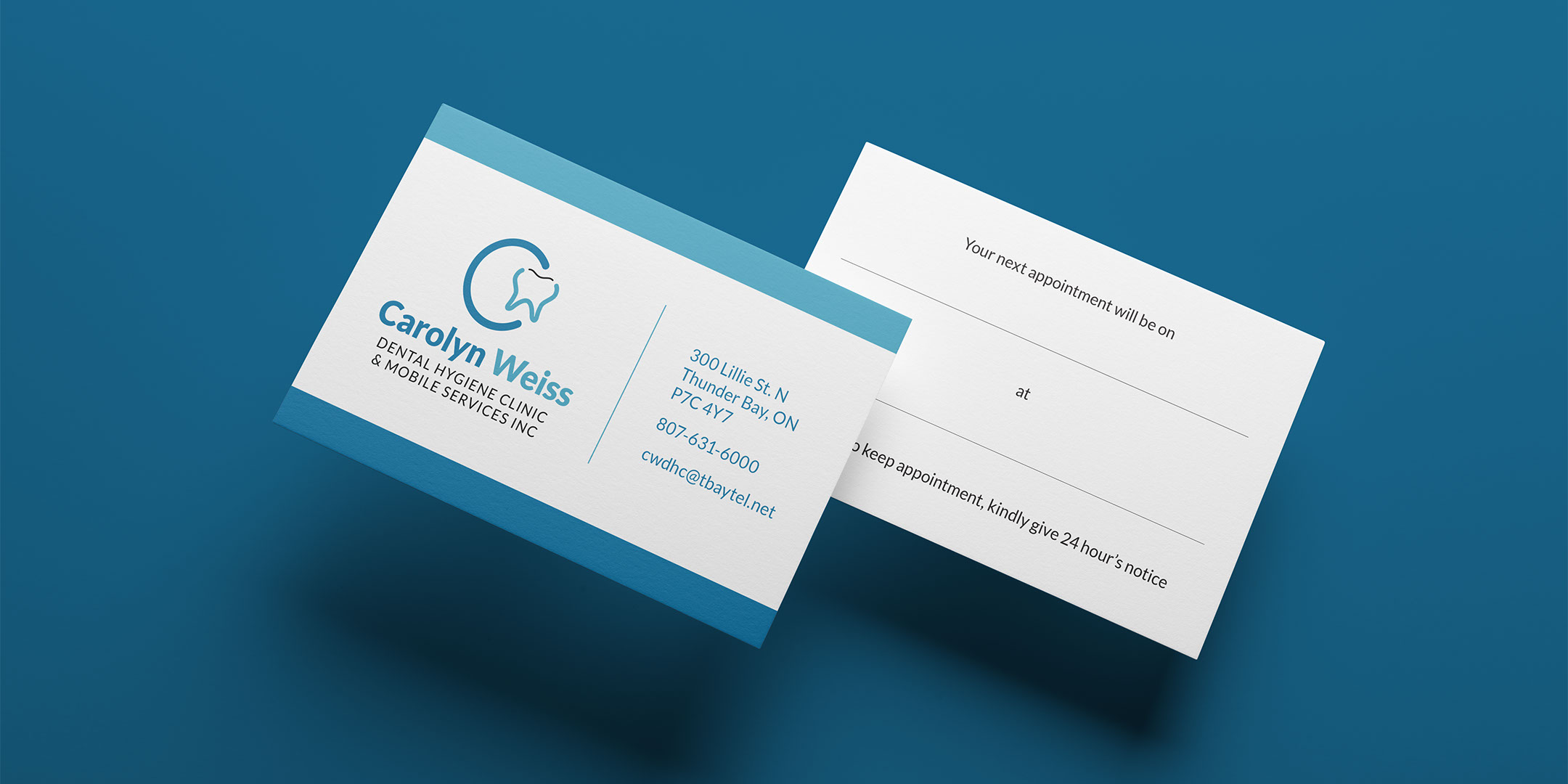 Carolyn Weiss business card front & back