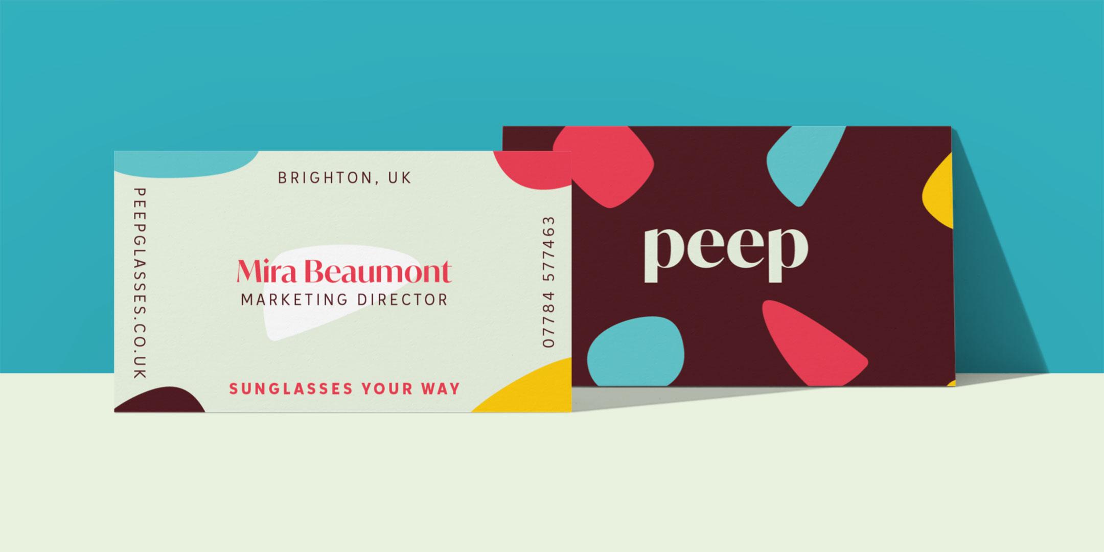 Peep business cards