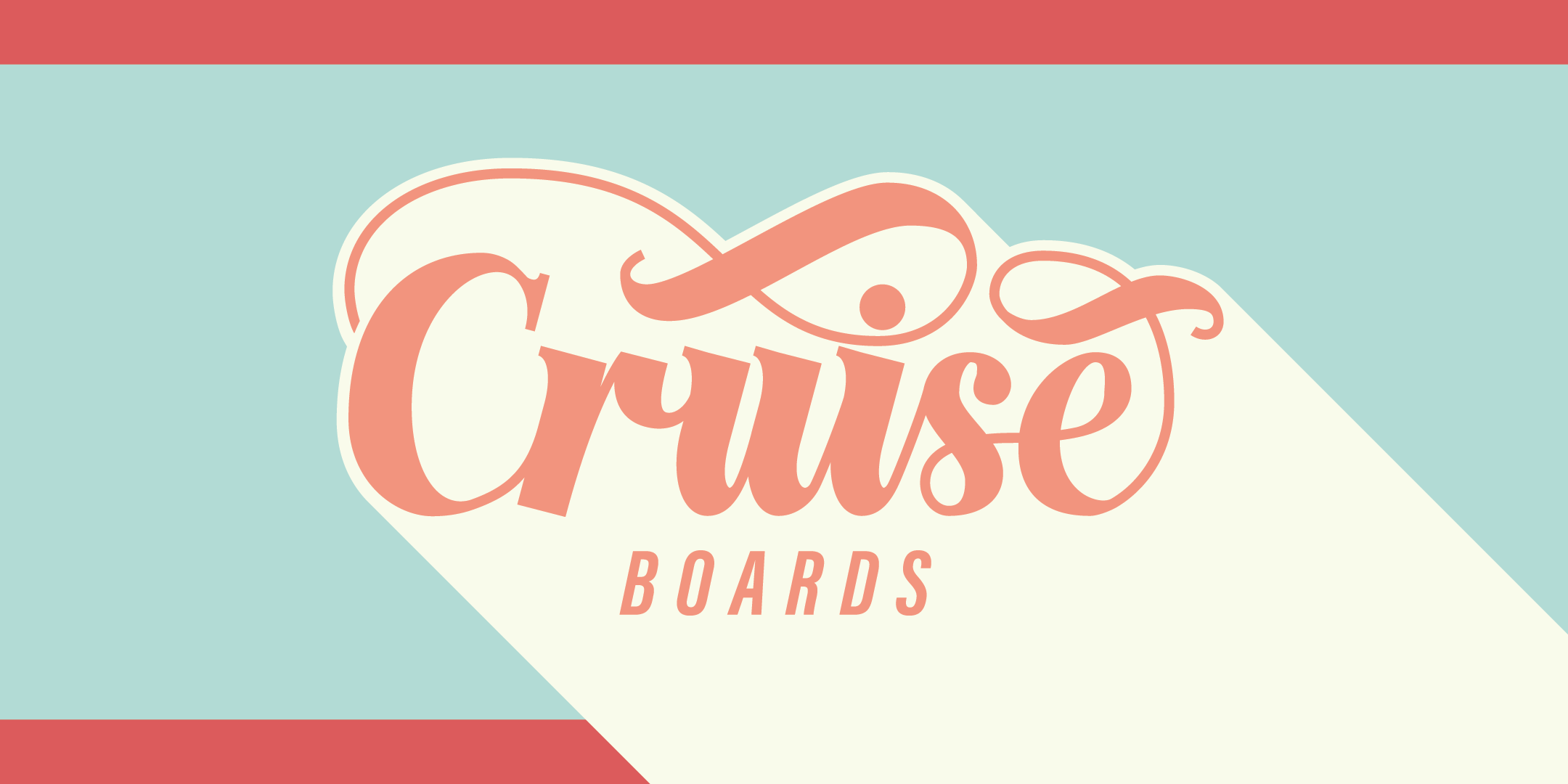 Cruise Boards lettering