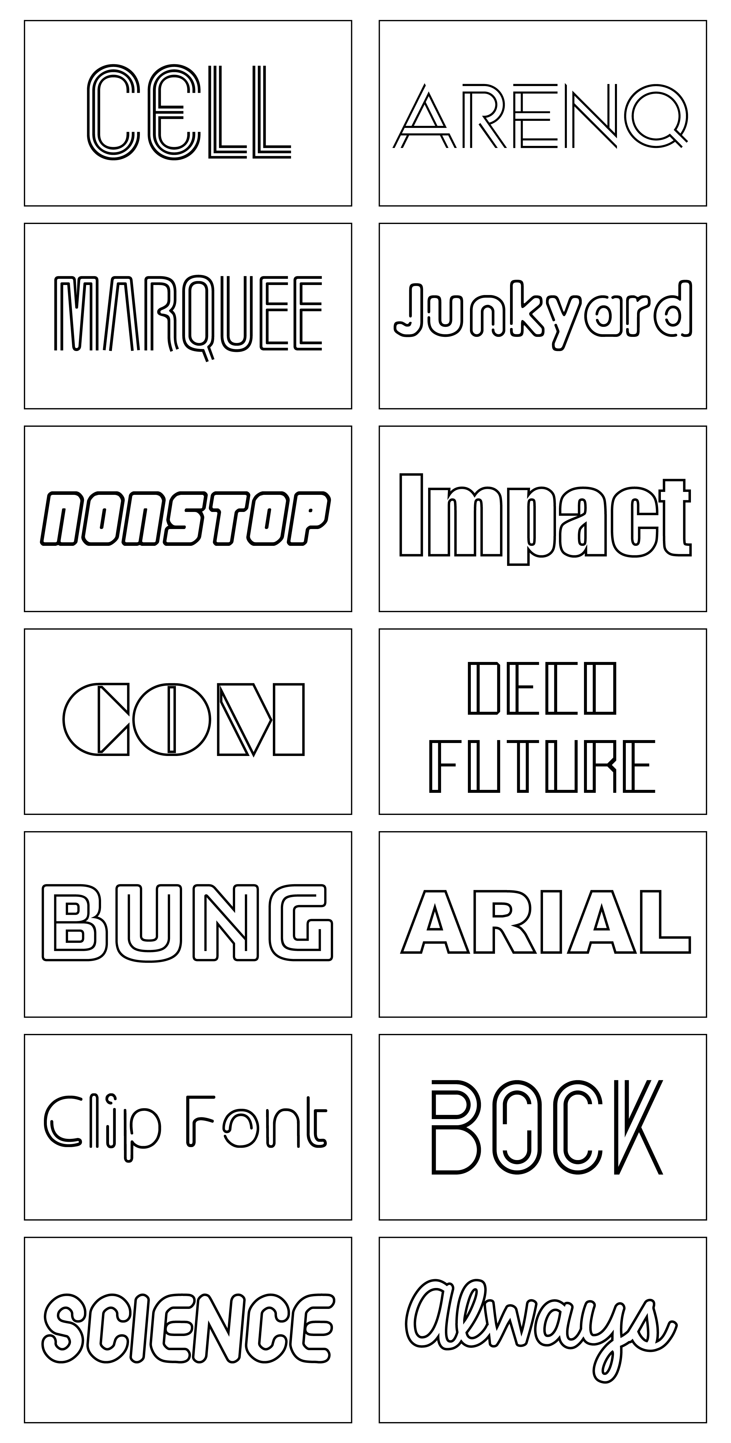 font examples 3