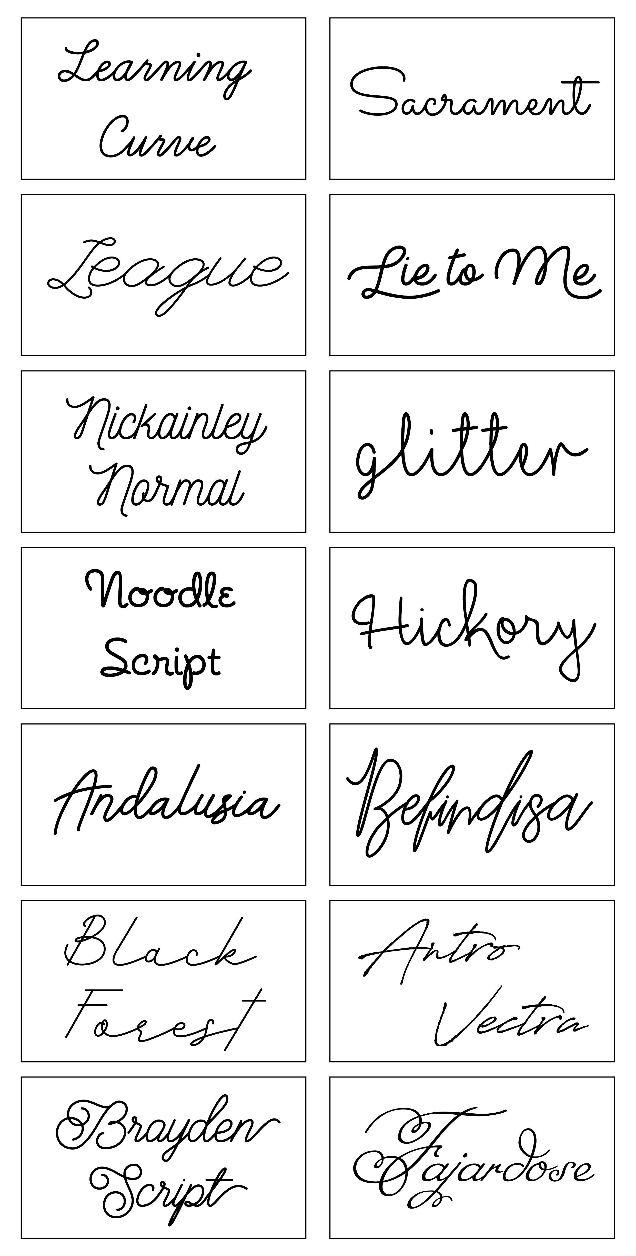 font examples 1