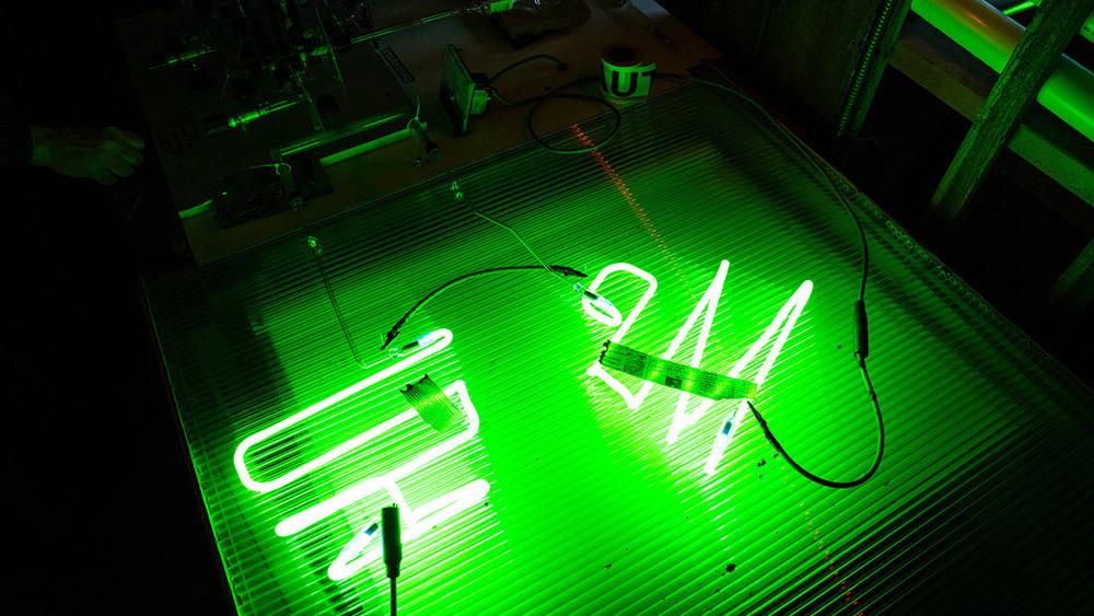 neon bombarding process photo