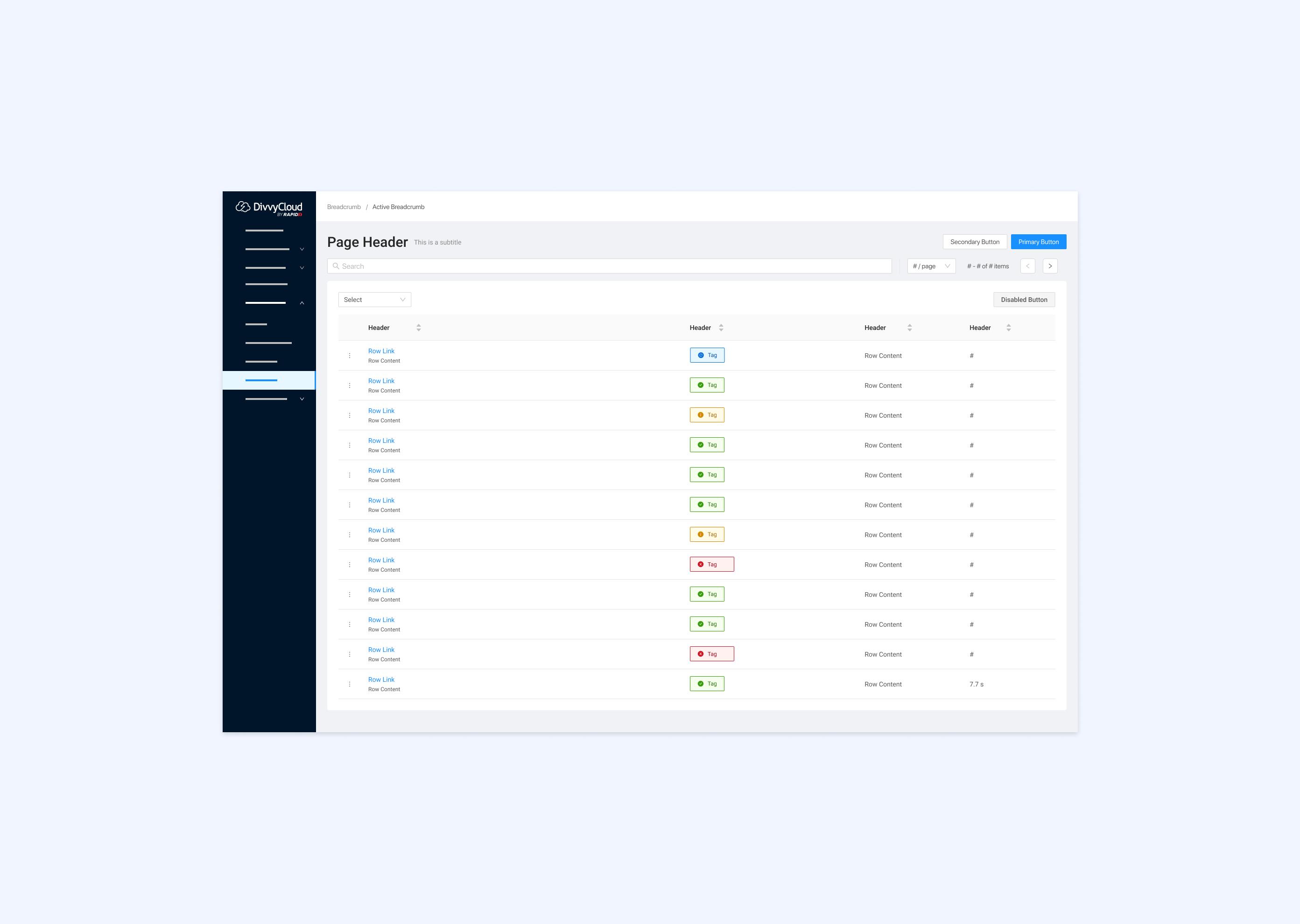 DivvyCloud Example User Interface