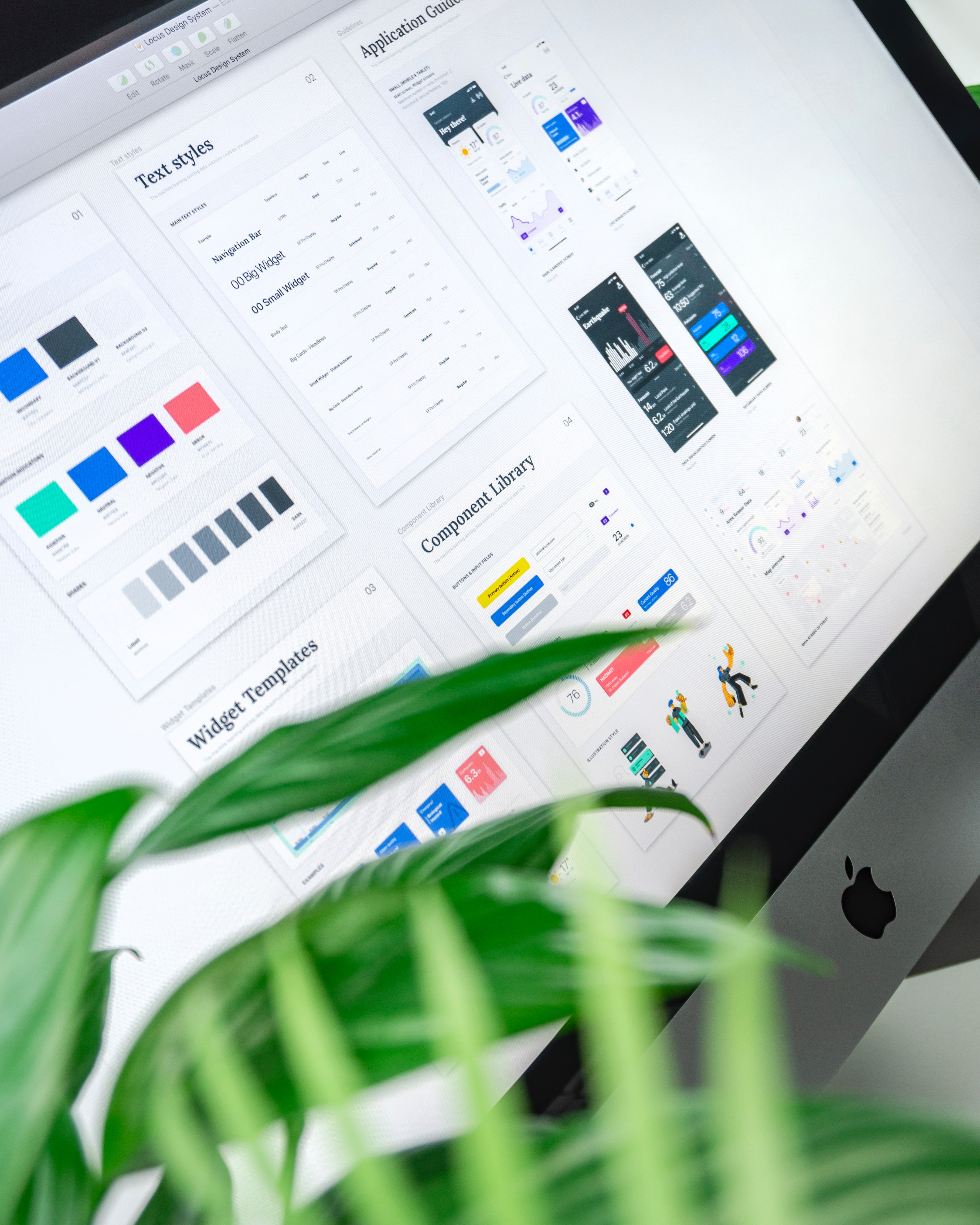 Photo of a design system on a computer