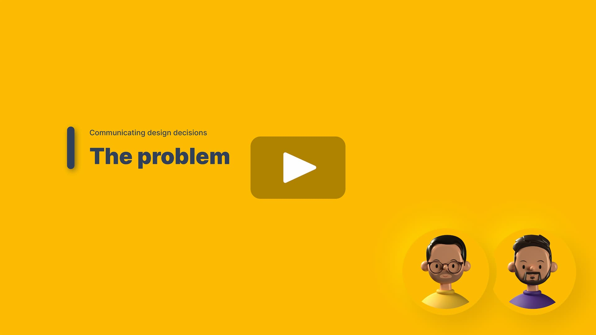 """Video thumbnail of our lesson, """"The problem"""""""