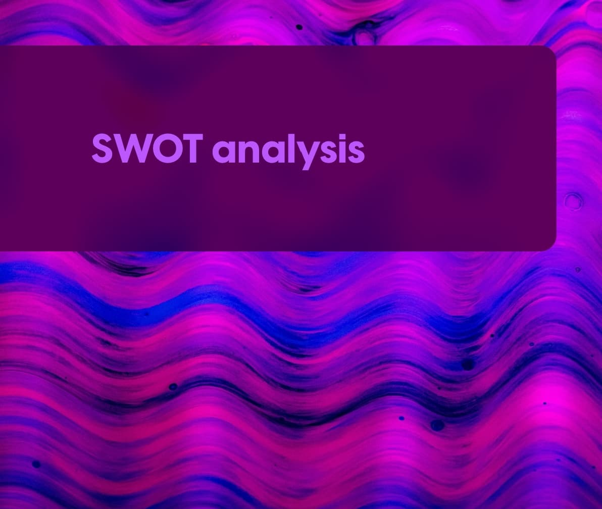 SWOT analysis template cover image