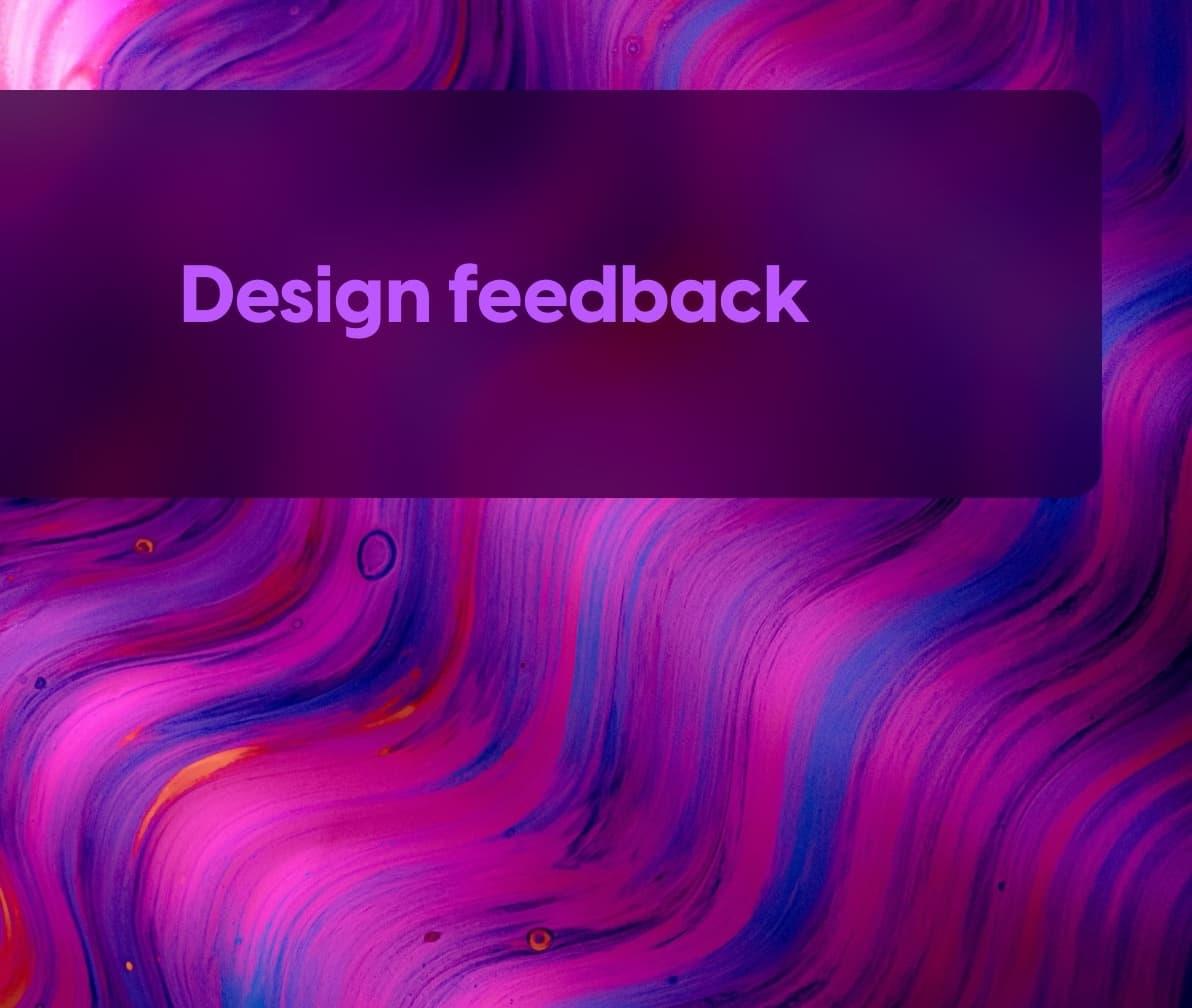 Design feedback worksheet cover image