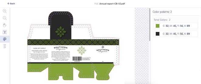 packaging artwork color