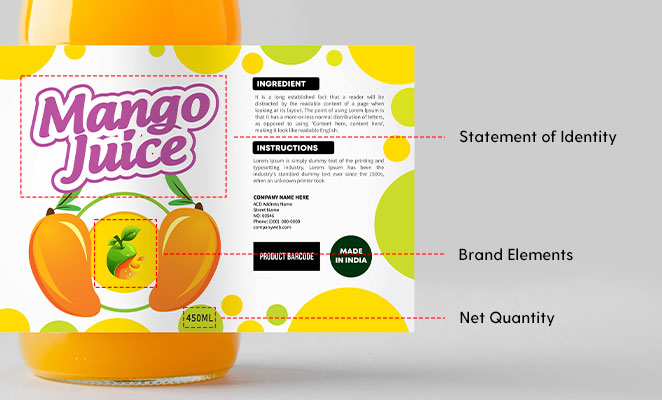Principal Display Panel 1. Brand Elements 2. Statement of Identity 3. Net Quantity - FDA Food Labeling Guide ArtworkFlow