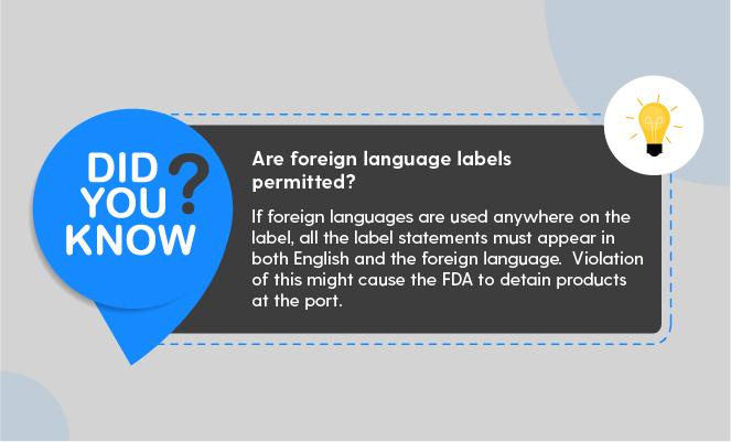fda language regulations