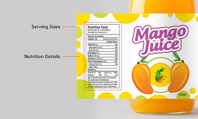 Nutrition Panel 1. Nutrition Details 2. Serving Sizes (FDA Food Labeling Guide - ArtworkFlow)