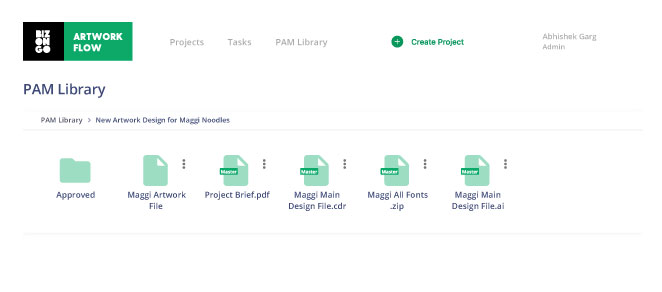 Digital asset management - Packaging asset management library in Artwork Flow to store all your artwork files