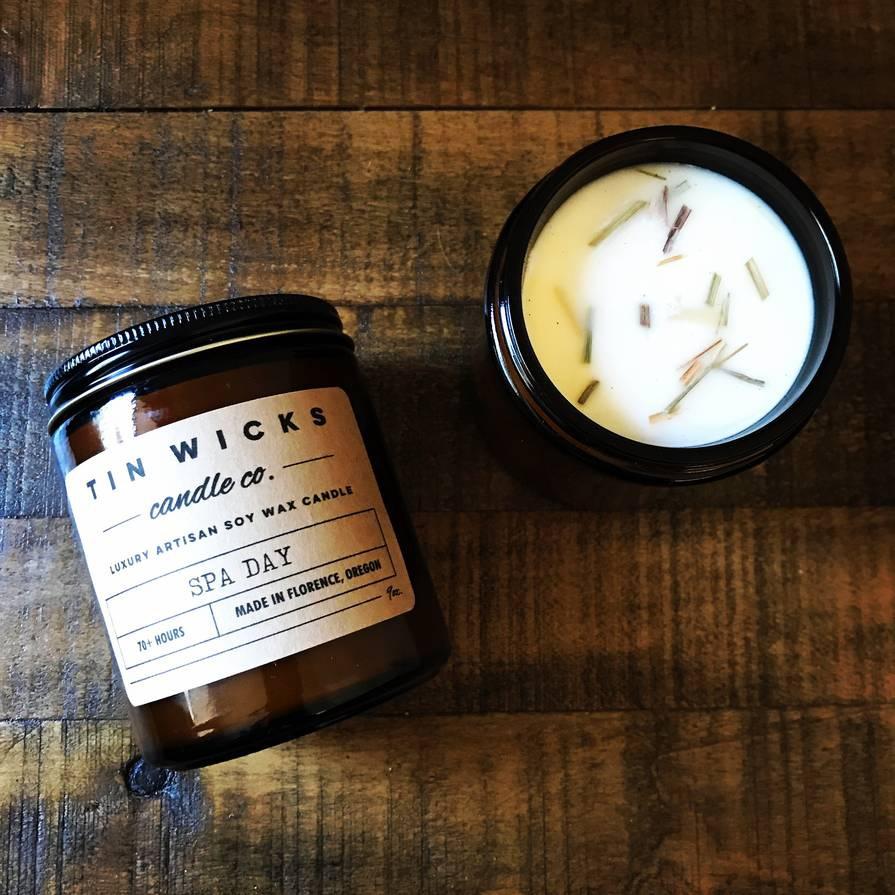candle product label design idea