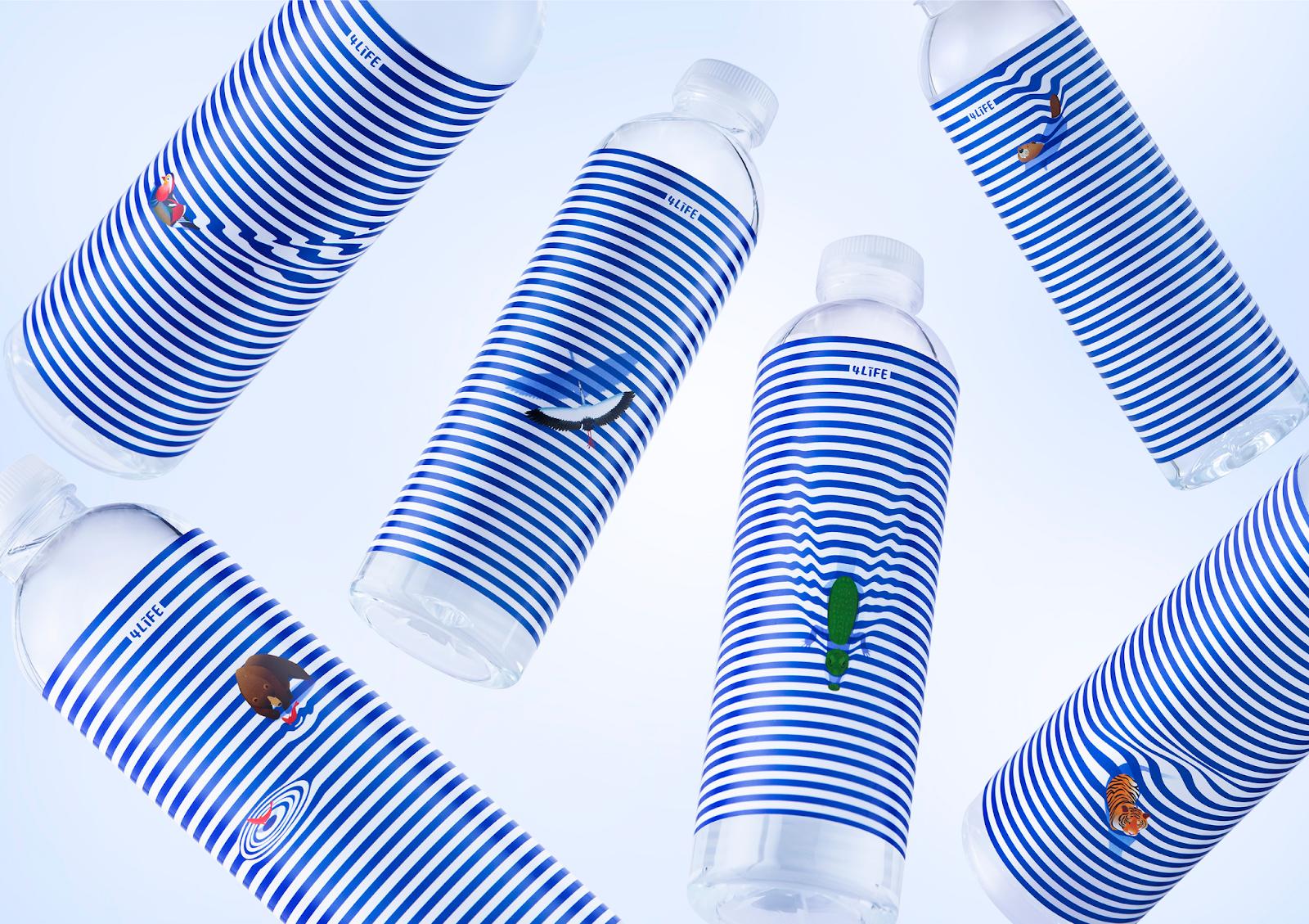 bottle product label design idea