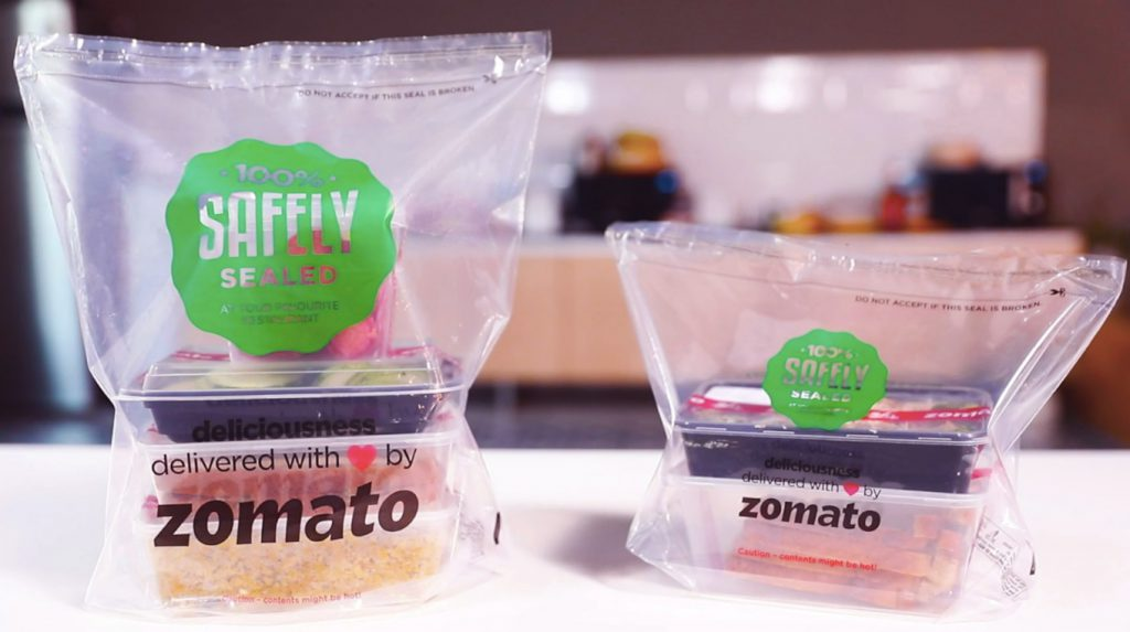 Food safety through product packaging and labeling - zomato