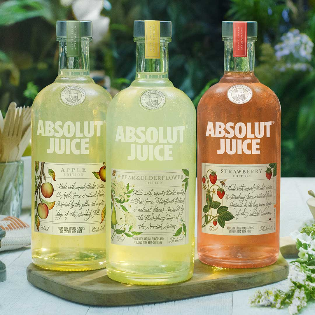 product launch example - absolute juice