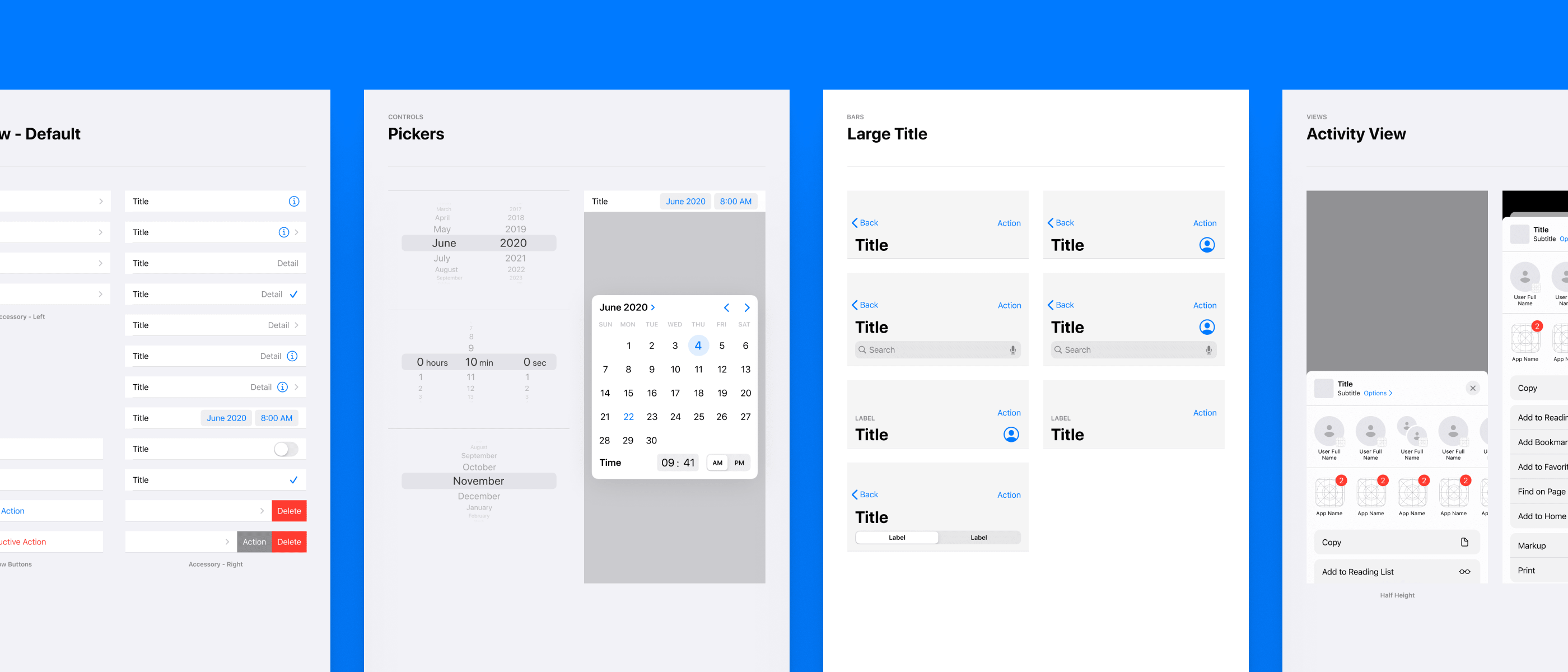 iOS 14 Mobile Wireframe Kit for Sketch and Figma