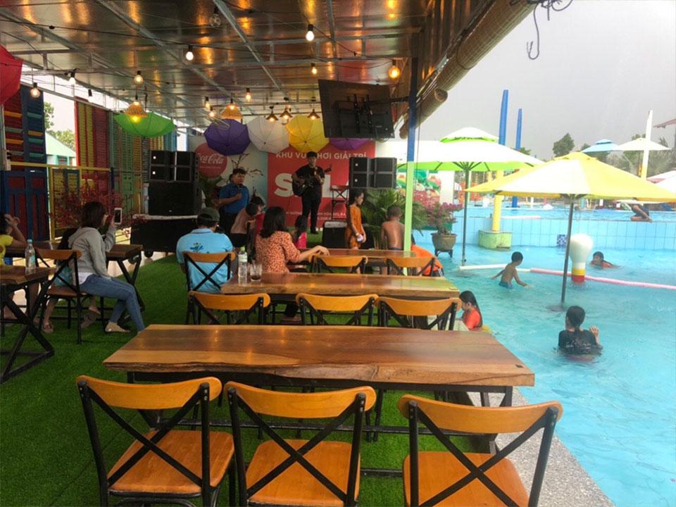 Bán Dù Che Nắng Quán Cafe Ngoài Trời Ở Bình Dương Giá Rẻ | Dù Lệch Tâm Thủ Dầu Một Dĩ An