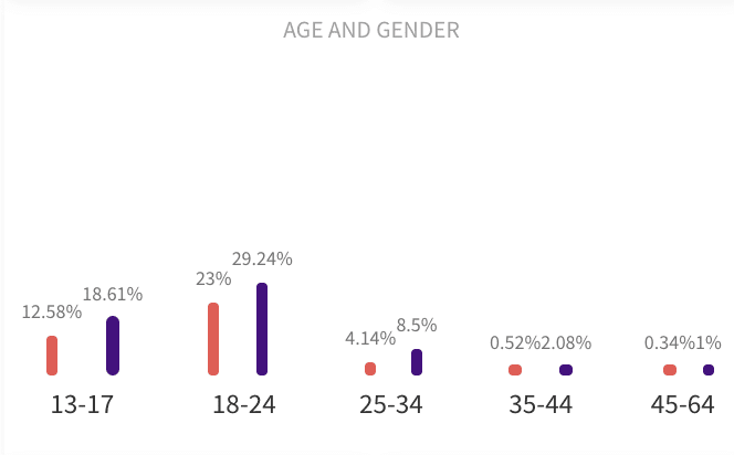 How modash shows audience demographics data