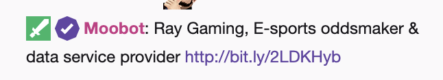 twitch influencer marketin chat bot ad example