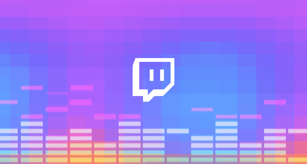 twitch logo in a banner