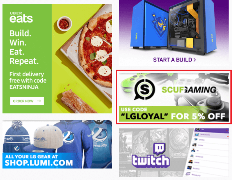twitch advertisement example from uber eats