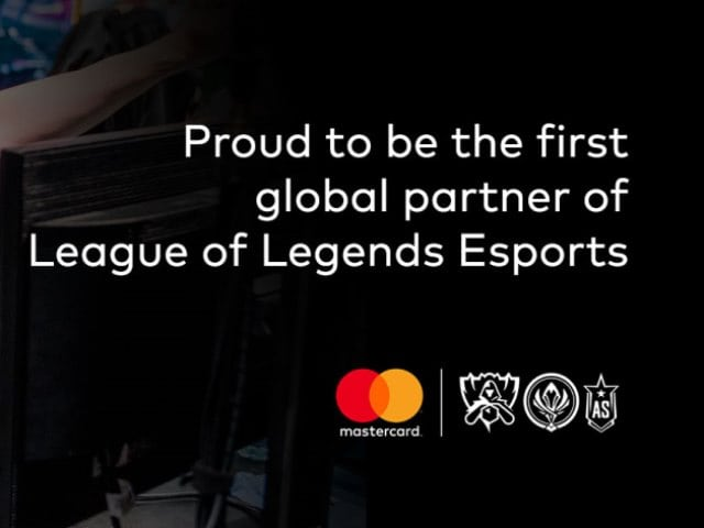 Example of Mastercard advertising on esports events
