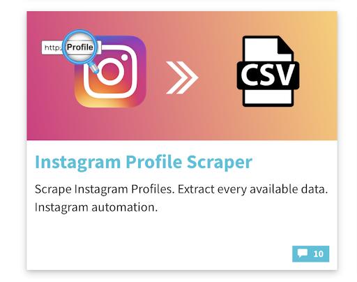phantombuster instagram profile scraper