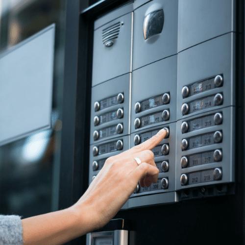 Intercom door entry systems