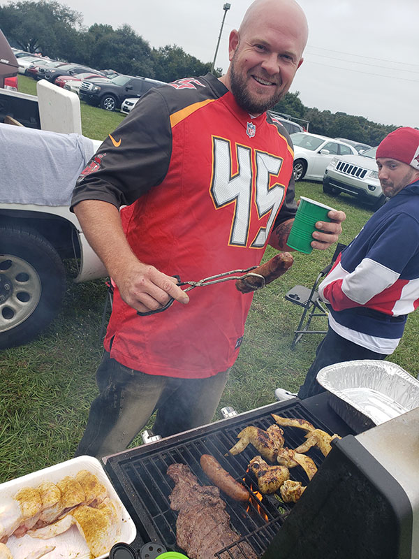 Bucs tailgate party