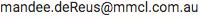 Mandee de Reus email address