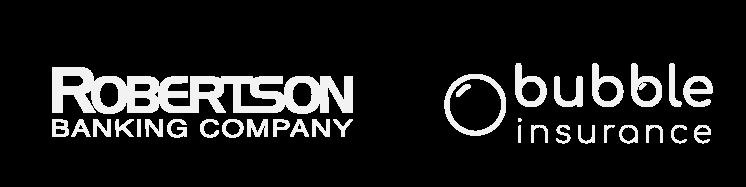 robertson bank and bubble insurance logos