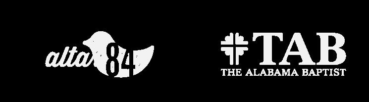 altar 84 and the Alabama baptist logos