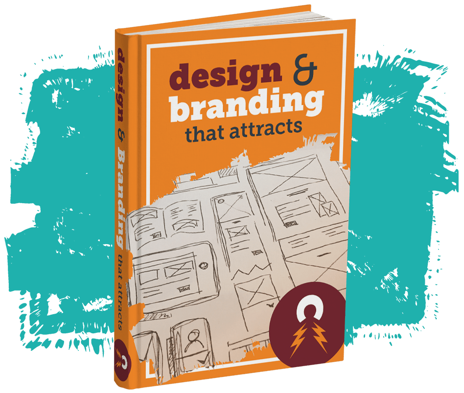 "photo of ""design & branding that attracts"" book."