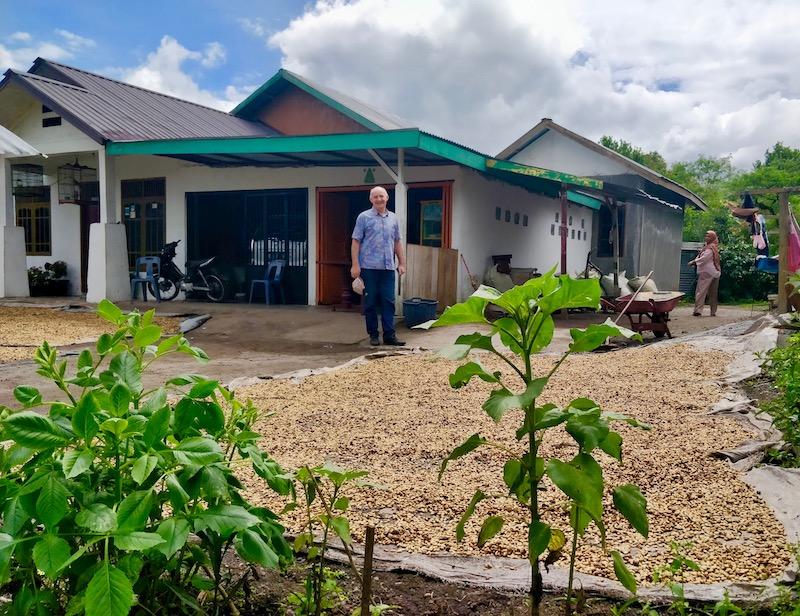 Coffee drying farm Indonesia