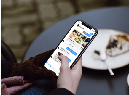 Ordering food within messenger via simple text message.