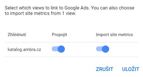 Návod pro e-shopy na propojeni Google Analytics s Google Ads.