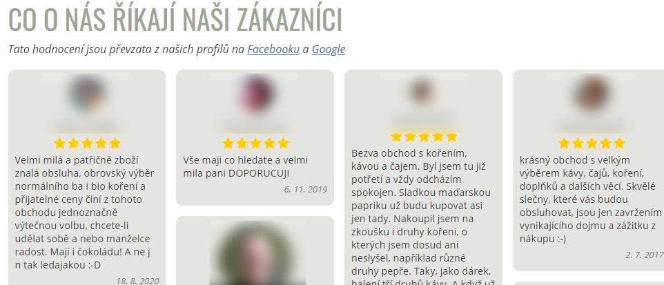 Správná práce se zákaznickýma recenzema na e-shopu klienta.
