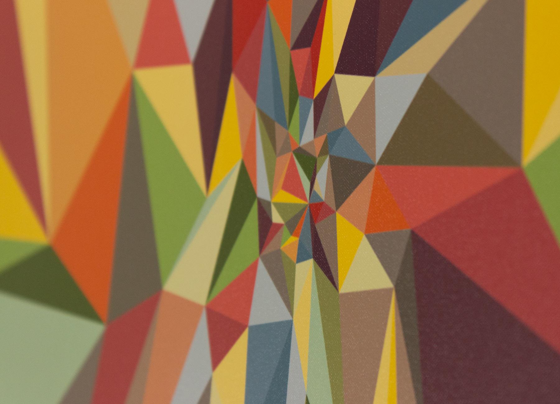 digital print of a colorful geometric pattern