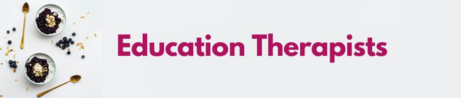 Education Therapist Banner