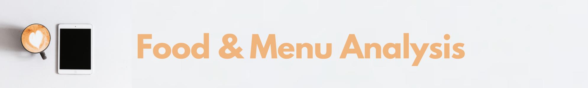 Food and Menu Analysis Banner