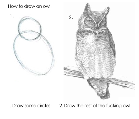 Drawing the rest of the owl