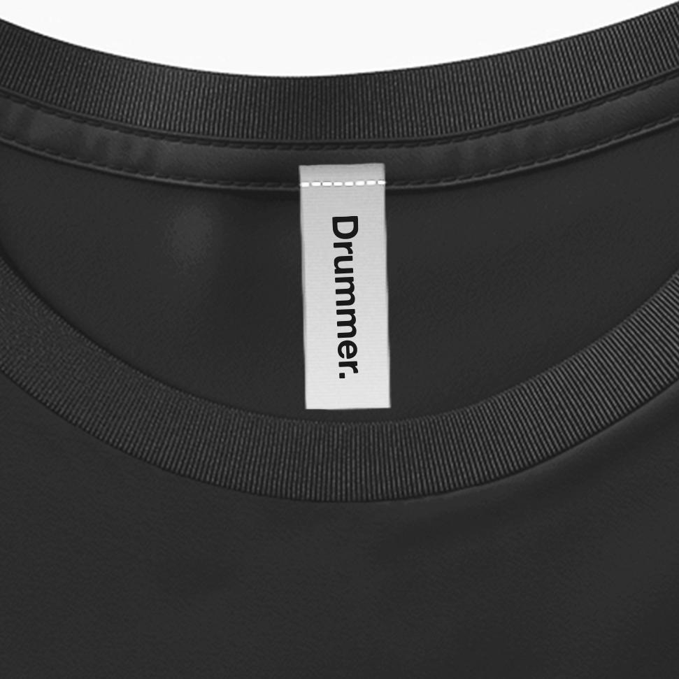 Drummer T-Shirt Image Label
